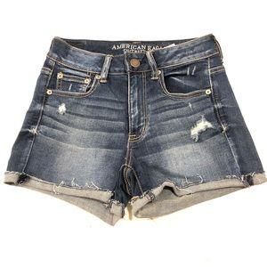 AEO high rise shorts. Super stretch. Size 2